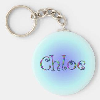 Chloe Rainbow Basic Round Button Key Ring