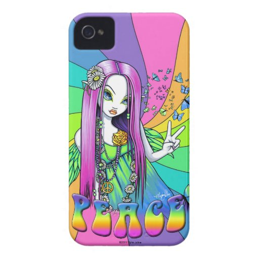 """Chloe"" Rainbow Hippie Fairy BlackBerry Bold Case"