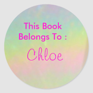 Chloe Round Sticker