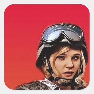 Chloe Square Sticker