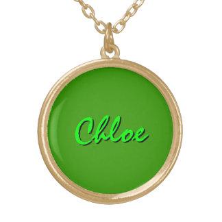 Chloe style round pendant necklace