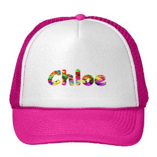 Chloe White Pink Trucker Hat