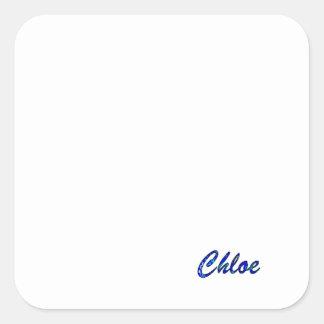 Chloe's Square Sticker
