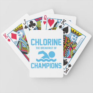 Chlorine for Breakfast Bicycle Playing Cards