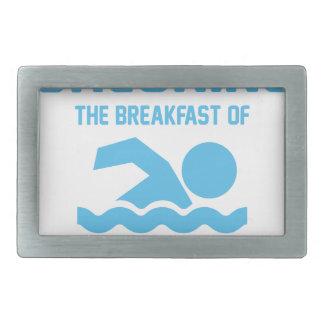 Chlorine for Breakfast Rectangular Belt Buckle
