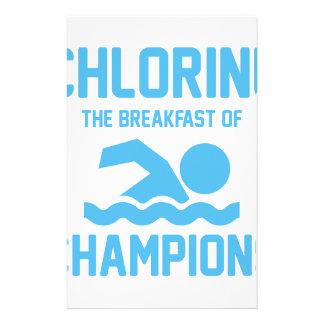 Chlorine for Breakfast Stationery