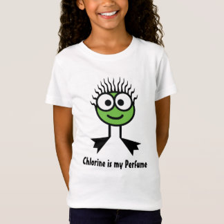 Chlorine is my Perfume - Green Swim Character T-Shirt