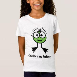 Chlorine is my Perfume - Green Swim Character T-Shirt