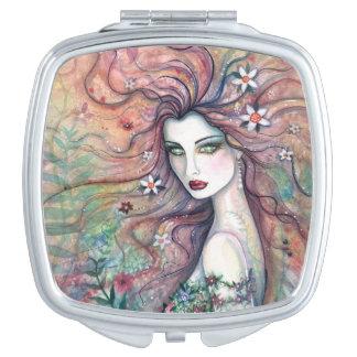Chloris Goddess of Flowers Fantasy Art Makeup Mirror