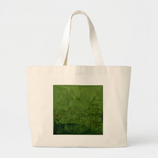 Chlorophyll Green Abstract Low Polygon Background Large Tote Bag