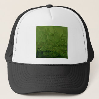 Chlorophyll Green Abstract Low Polygon Background Trucker Hat