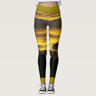 CHO DUSK SUN DESIGN LEGGINGS