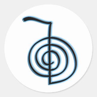 Cho Ku Rei Reiki Symbol Classic Round Sticker