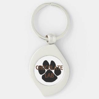 choc lab name mega paw key ring