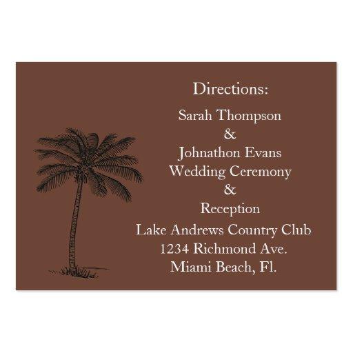 Chocalate Java Beach Getaway Direction Cards Business Cards