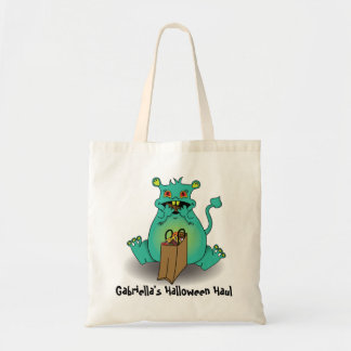 Chocholate candy monster candy sack budget tote bag
