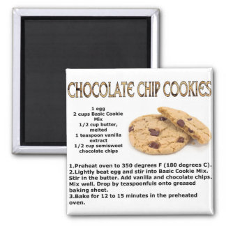 Chocloate Chip Cookies Square Magnet