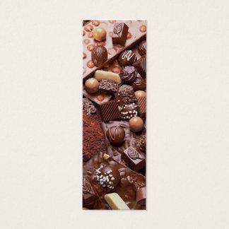 choco bookmark chocolate mini business card