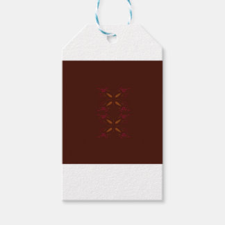 Choco design elements gold on brown gift tags