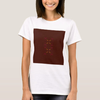 Choco design elements gold on brown T-Shirt