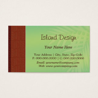 choco tapa palm business card