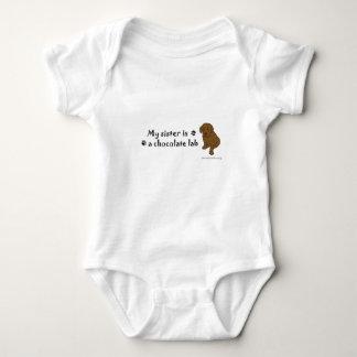 chococlate lab baby bodysuit