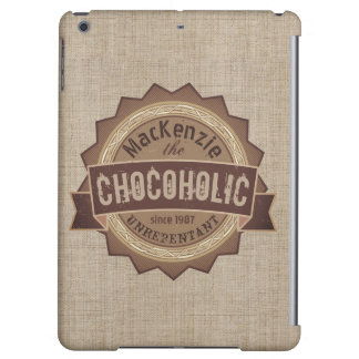 Chocoholic Chocolate Lover Grunge Badge Brown Logo
