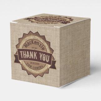Chocoholic Chocolate Lover Grunge Badge Brown Logo Favour Box