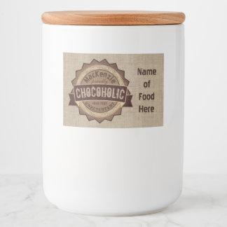 Chocoholic Chocolate Lover Grunge Badge Brown Logo Food Label