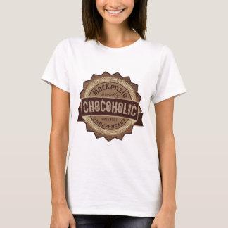 Chocoholic Chocolate Lover Grunge Badge Brown Logo T-Shirt
