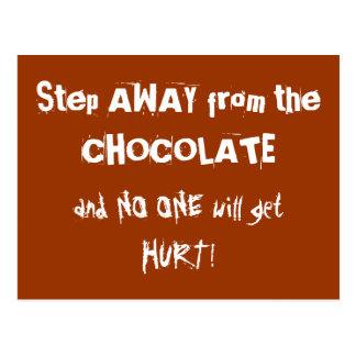 Chocoholic Chocolate Warning Postcard