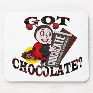 """Chocoholic Ladybug – """"Got Chocolate?"""" Design Mouse Pad"""