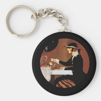 Chocolat Amatller Girl Drinking Cocoa Key Ring