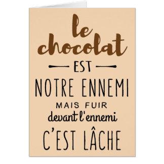 CHOCOLAT CARD