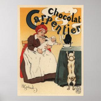 Chocolat Carpentier Poster