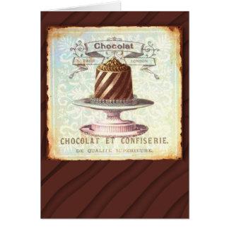 Chocolat et Confiserie Vintage Label Card