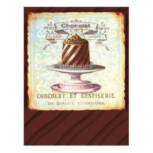 Chocolat et Confiserie Vintage Label Postcards