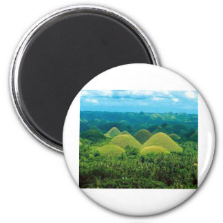Chocolat Hills.jpg 6 Cm Round Magnet