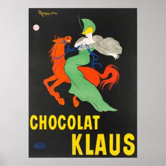 Chocolat Klaus Leonetto Cappiello Vintage Poster