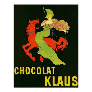 Chocolat Klaus ~ Vintage French Advertisement. Poster