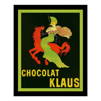 Chocolat Klaus ~ Vintage French Advertisement Poster