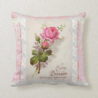 Chocolat Poulain Vintage Lace Cushion