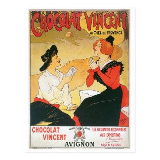 Chocolat Vincent Vintage Food Ad Art Postcard