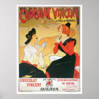 Chocolat Vincent Vintage Food Ad Art Poster