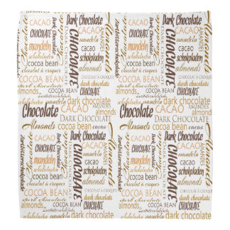 Chocolate, Almonds and Dark Chocolate Text Design Bandana