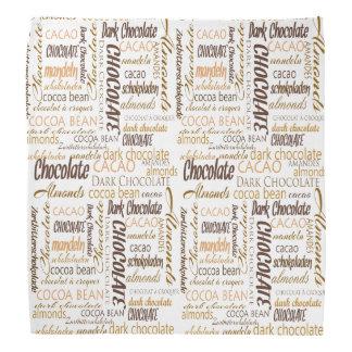 Chocolate, Almonds and Dark Chocolate Text Design Bandanas