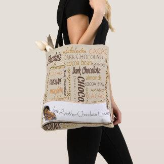 Chocolate, Almonds and Dark Chocolate Text Design Tote Bag