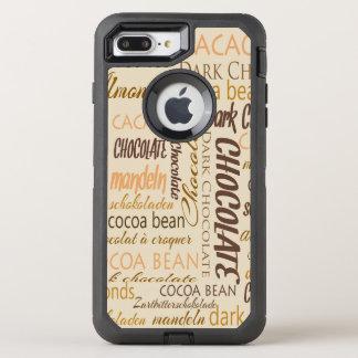 Chocolate, Almonds and Dark Chocolate Word Cloud OtterBox Defender iPhone 8 Plus/7 Plus Case