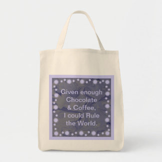 chocolate and coffee tote bags