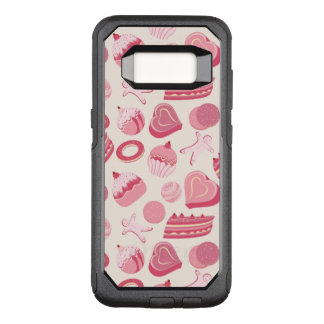 Chocolate and pastries pattern 2 OtterBox commuter samsung galaxy s8 case